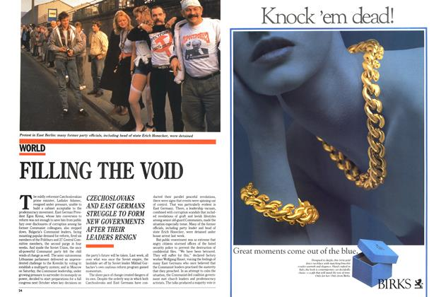 Article Preview: FILLING THE VOID, December 1989 | Maclean's