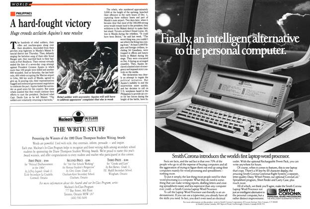 Article Preview: A hard-fought victory, December 1989 | Maclean's