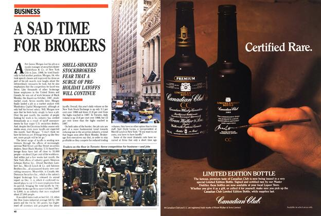 Article Preview: A SAD TIME FOR BROKERS, December 1989 | Maclean's