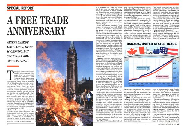 Article Preview: A FREE TRADE ANNIVERSARY, December 1989 | Maclean's