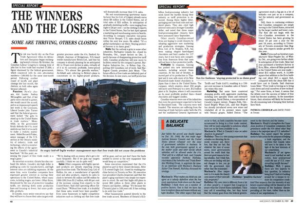 Article Preview: THE WINNERS AND THE LOSERS, December 1989 | Maclean's