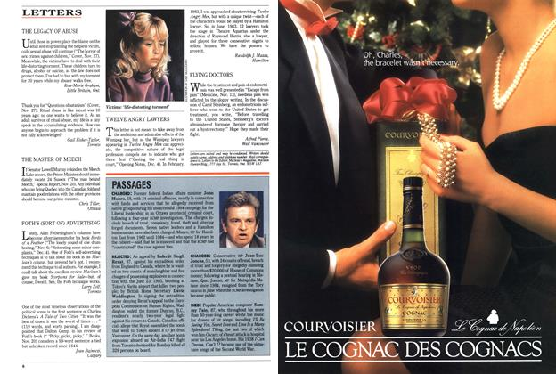 Article Preview: LETTERS, December 1989 | Maclean's