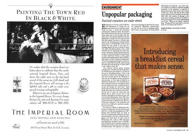Article Preview: Unpopular packaging, December 1989 | Maclean's