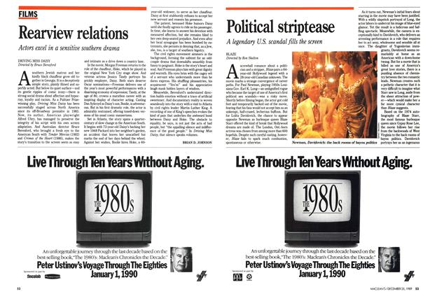 Article Preview: Political striptease, December 1989 | Maclean's