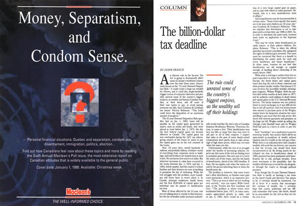 Article Preview: The billion-dollar tax deadline, December 1989 | Maclean's