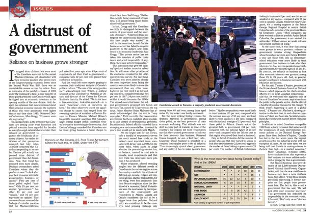 Article Preview: A distrust of government, January 1990 | Maclean's