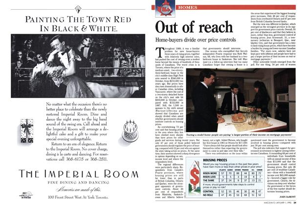Article Preview: Out of reach, January 1990 | Maclean's