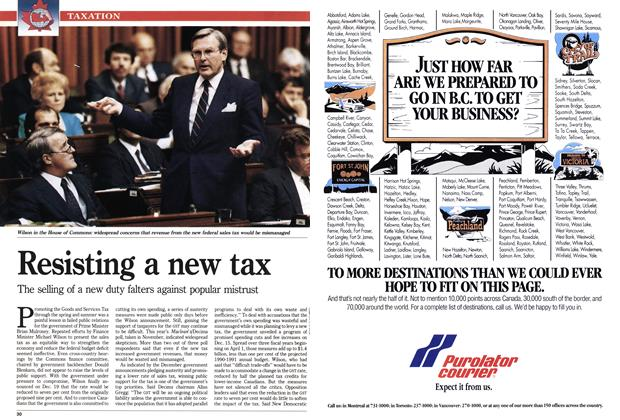 Article Preview: Resisting a new tax, January 1990 | Maclean's