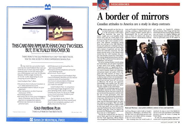 Article Preview: A border of mirrors, January 1990 | Maclean's