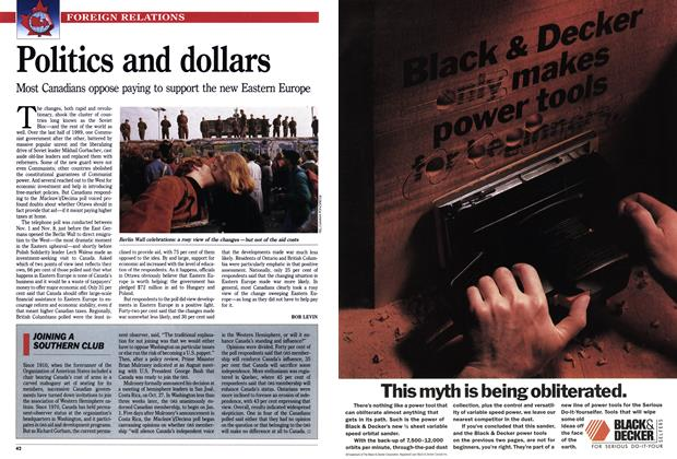 Article Preview: Politics and dollars, January 1990 | Maclean's