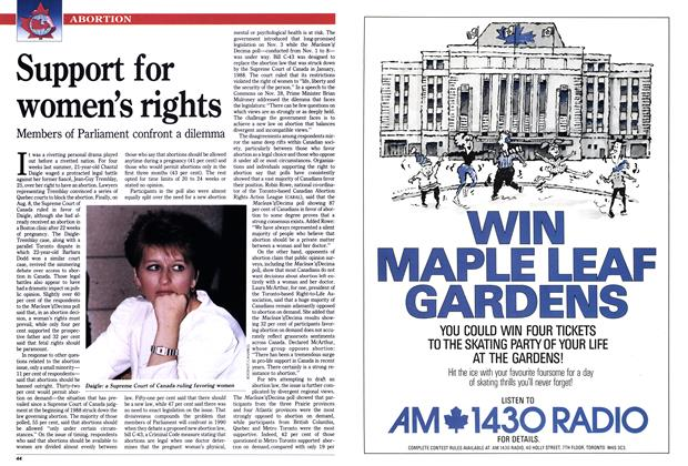 Article Preview: Support for women's rights, January 1990 | Maclean's