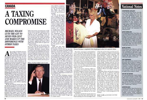 Article Preview: A TAXING COMPROMISE, January 1990   Maclean's