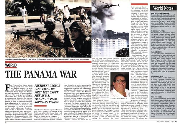 Article Preview: THE PANAMA WAR, January 1990 | Maclean's