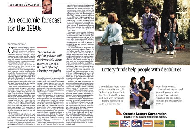 Article Preview: An economic forecast for the 1990s, January 1990 | Maclean's