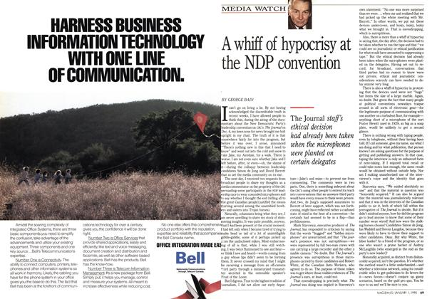 Article Preview: A whiff of hypocrisy at the NDP convention, January 1990 | Maclean's
