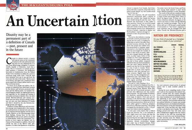 Article Preview: An Uncertain Nation, January 1990 | Maclean's