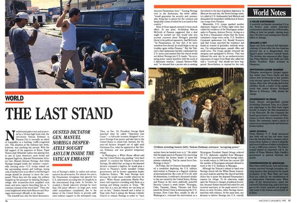 Article Preview: THE LAST STAND, January 1990 | Maclean's