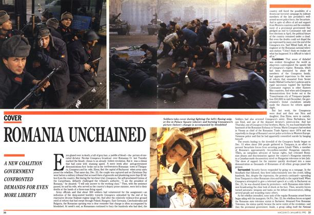 Article Preview: ROMANIA UNCHAINED, January 1990 | Maclean's