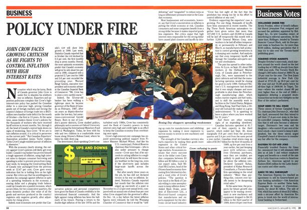 Article Preview: POLICY UNDER FIRE, January 1990 | Maclean's