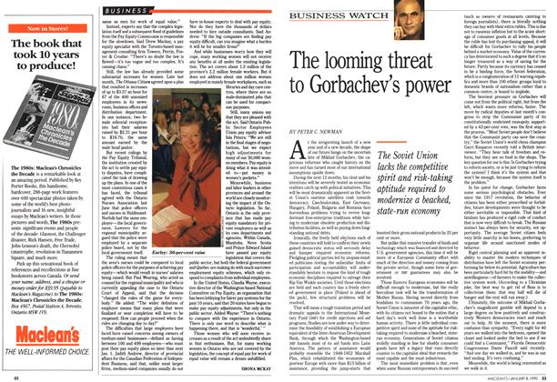 Article Preview: The looming threat to Gorbachev's power, January 1990 | Maclean's