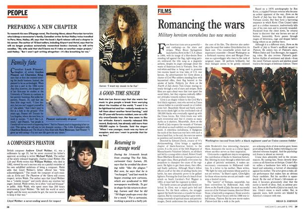 Article Preview: Romancing the wars, January 1990 | Maclean's