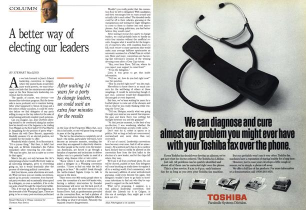 Article Preview: A better way of electing our leaders, January 1990 | Maclean's