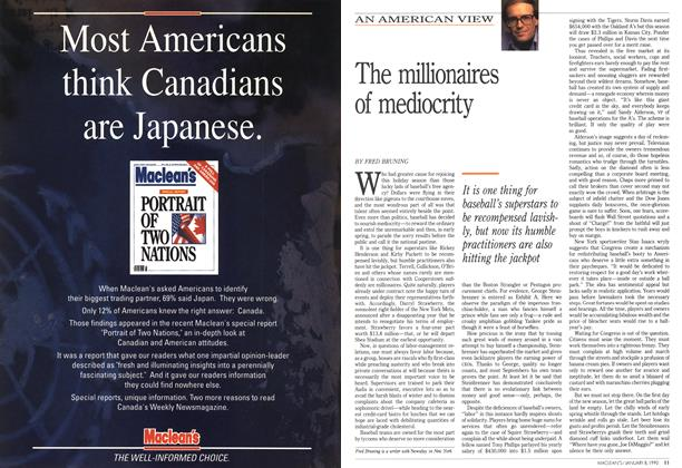 Article Preview: The millionaires of mediocrity, January 1990 | Maclean's