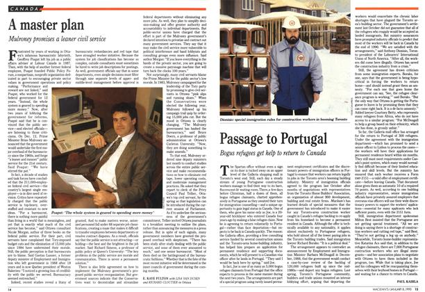 Article Preview: Passage to Portugal, January 1990 | Maclean's