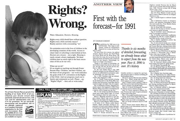 Article Preview: First with the forecast—for 1991, January 1990 | Maclean's