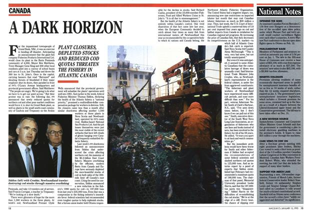 Article Preview: A DARK HORIZON, January 1990 | Maclean's