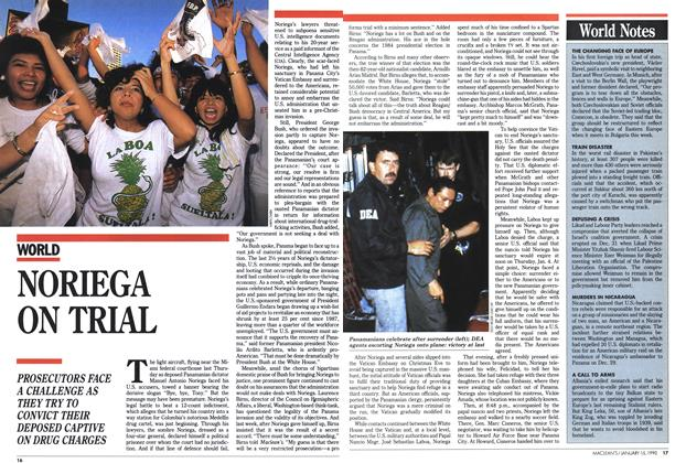 Article Preview: NORIEGA ON TRIAL, January 1990 | Maclean's