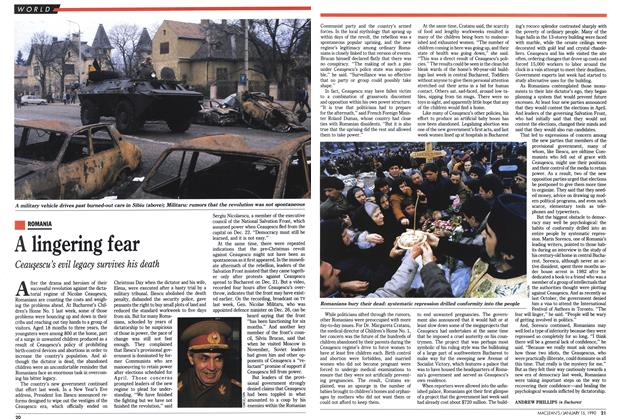 Article Preview: A lingering fear, January 1990 | Maclean's