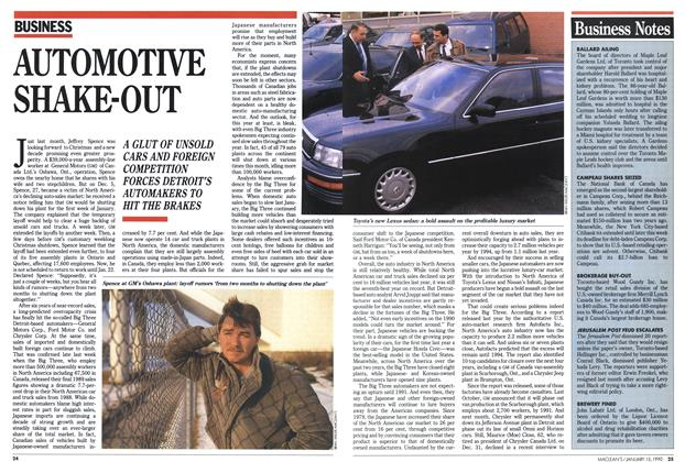 Article Preview: AUTOMOTIVE SHAKE-OUT, January 1990 | Maclean's