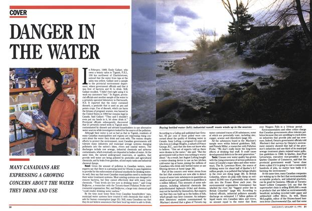 Article Preview: DANGER IN THE WATER, January 1990 | Maclean's