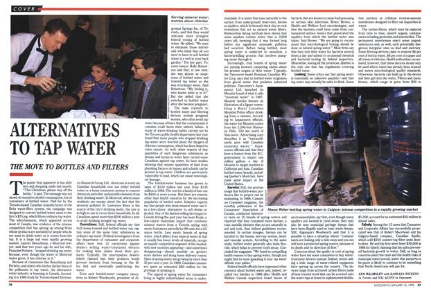 Article Preview: ALTERNATIVES TO TAP WATER, January 1990 | Maclean's