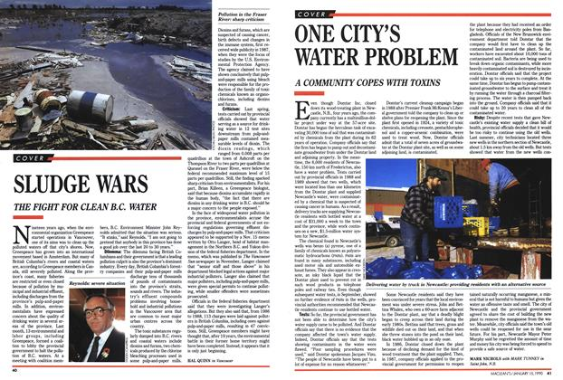 Article Preview: ONE CITY'S WATER PROBLEM, January 1990 | Maclean's