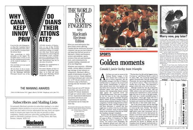 Article Preview: Golden moments, January 1990 | Maclean's
