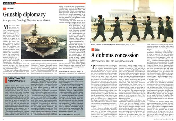 Article Preview: Gunship diplomacy, January 1990 | Maclean's