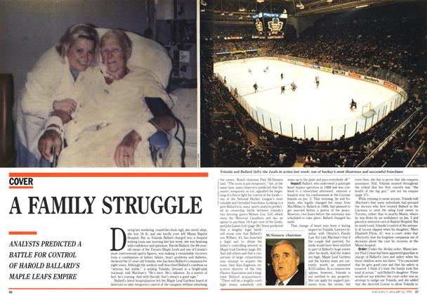 Article Preview: A FAMILY STRUGGLE, January 1990 | Maclean's