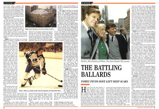 Article Preview: THE BATTLING BALLARDS, January 1990 | Maclean's