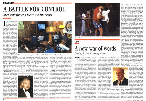 Article Preview: A new war of words, January 1990 | Maclean's