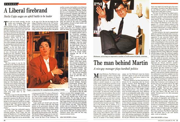 Article Preview: A Liberal firebrand, January 1990 | Maclean's