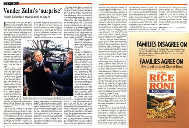 Article Preview: Vander Zalm's 'surprise', January 1990 | Maclean's