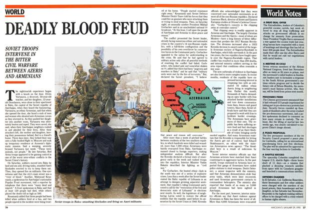 Article Preview: DEADLY BLOOD FEUD, January 1990 | Maclean's