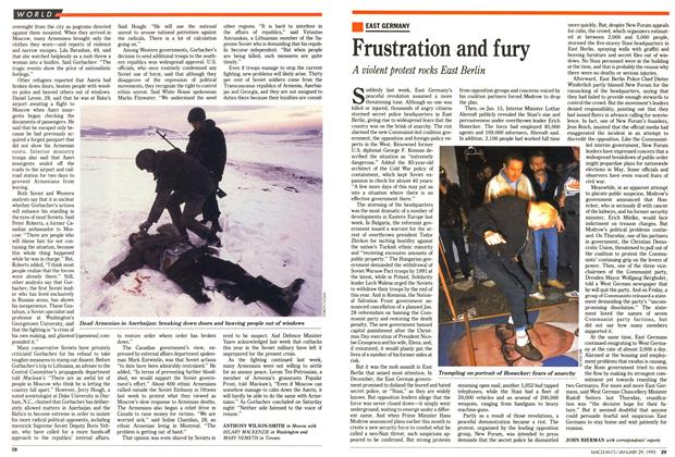 Article Preview: Frustration and fury, January 1990 | Maclean's