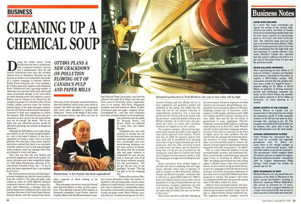 Article Preview: CLEANING UP A CHEMICAL SOUP, January 1990 | Maclean's
