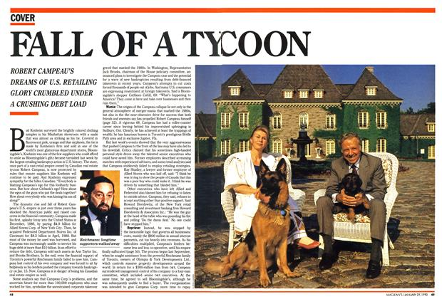 Article Preview: FALL OF A TYCOON, January 1990 | Maclean's