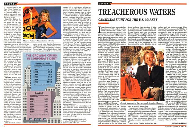 Article Preview: TREACHEROUS WATERS, January 1990 | Maclean's