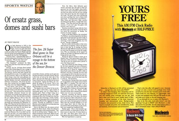 Article Preview: Of ersatz grass, domes and sushi bars, January 1990 | Maclean's