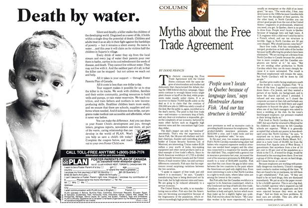 Article Preview: Myths about the Free Trade Agreement, January 1990 | Maclean's